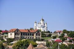 Harsova's church. A new church in a old village, Harsova, Romania Stock Photo
