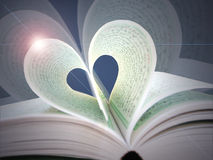 In the hart. Quraan holy book with 2 pages folded to shape a hart royalty free stock images