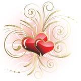 Hart aan St.Valentine royalty-vrije illustratie