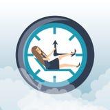 Hart arbeitend Zeitdruck der Geschäftsfrau vektor abbildung