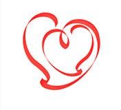 Hart binnen het hart. Stock Afbeeldingen