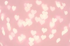 Hart bokeh achtergrond Pastelkleur roze kleur vage textuur Royalty-vrije Stock Foto