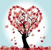 hart boom Stock Illustratie