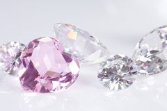 Hart and brilliant diamonds Stock Images