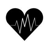Hart cardio geïsoleerd pictogram Stock Afbeeldingen