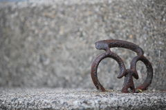 Hart in Cement Royalty-vrije Stock Afbeelding