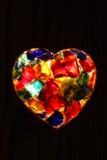 Close-up van terug aangestoken gebrandschilderd glas Royalty-vrije Stock Foto's