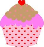 Hart cupcake Stock Afbeelding
