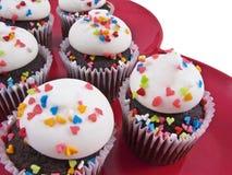 Hart cupcakes Stock Afbeelding