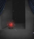 Hart, dat in een kooi wordt gesloten. royalty-vrije illustratie