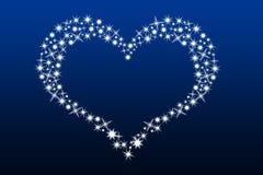 Hart dat met sterren wordt gemaakt Stock Foto's