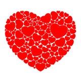 Hart dat uit kleine harten wordt samengesteld Royalty-vrije Stock Fotografie