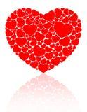 Hart dat uit kleine harten wordt samengesteld Royalty-vrije Stock Afbeeldingen