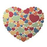 Hart dat uit kleine harten wordt samengesteld Stock Fotografie