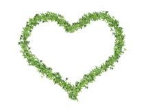 Hart dat van bladeren wordt gemaakt Stock Foto's