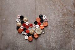 Hart dat van knopen wordt gemaakt Stock Foto