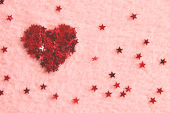 Hart dat van sterren wordt gemaakt Stock Foto