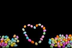 Hart dat van Suikergoed wordt gemaakt Stock Fotografie