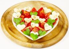 Hart dat van tomaten wordt gemaakt Royalty-vrije Stock Fotografie