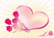 Hart. De achtergrond van de valentijnskaart. Royalty-vrije Stock Afbeeldingen