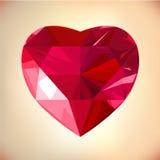 Het Hart van de diamant Stock Afbeelding