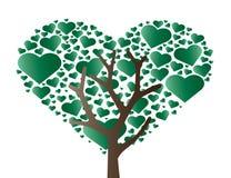 Hart in de vector van de hartboom Stock Afbeelding