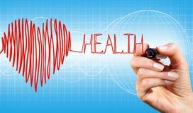 Hart en gezondheid royalty-vrije illustratie