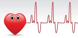 Hart en hartslag vector illustratie