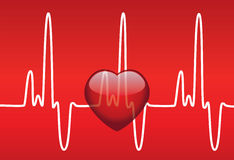 Hart en hartslag stock illustratie