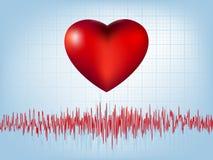 Hart en hartslagsymbool. EPS 8 Royalty-vrije Stock Foto