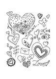 Hart en liefde, vectorillustratie Stock Afbeelding