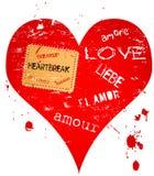 Hart en liefdeontwerp stock illustratie