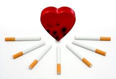 Hart en Sigaretten Stock Afbeeldingen