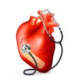 Hart en stethoscoop stock illustratie