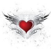 Hart en vleugel royalty-vrije illustratie