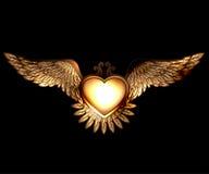 Hart en vleugels van de stoom de het punkstijl royalty-vrije illustratie