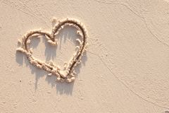 Hart en zand in Seychellen royalty-vrije stock foto's