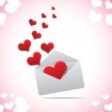 Hart in envelop vector illustratie