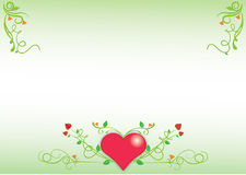 Hart floral background Stock Photo