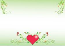 Hart floral background. Valentine's floral background, letterhead or wallpaper stock illustration