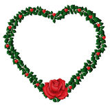 Heart Frame with Rose Stock Images