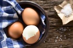Hart gesotte Eier stockbilder