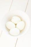 Hart gesotte Eier stockfoto