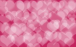Hart gestalte gegeven vakantie vage bokeh achtergrond De achtergrond van de valentijnskaart royalty-vrije stock afbeelding