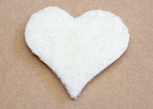 Hart gevormd brood stock foto's