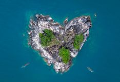 Hart gevormd eiland royalty-vrije stock foto's