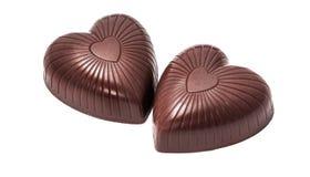 Hart gevormd geïsoleerd chocoladesuikergoed royalty-vrije stock fotografie