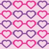 Hart-gevormd Glazen Naadloos Patroon stock illustratie