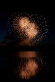 Hart gevormd Vuurwerk Stock Afbeeldingen