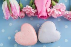 Hart gevormde Aardbeien royalty-vrije stock foto's